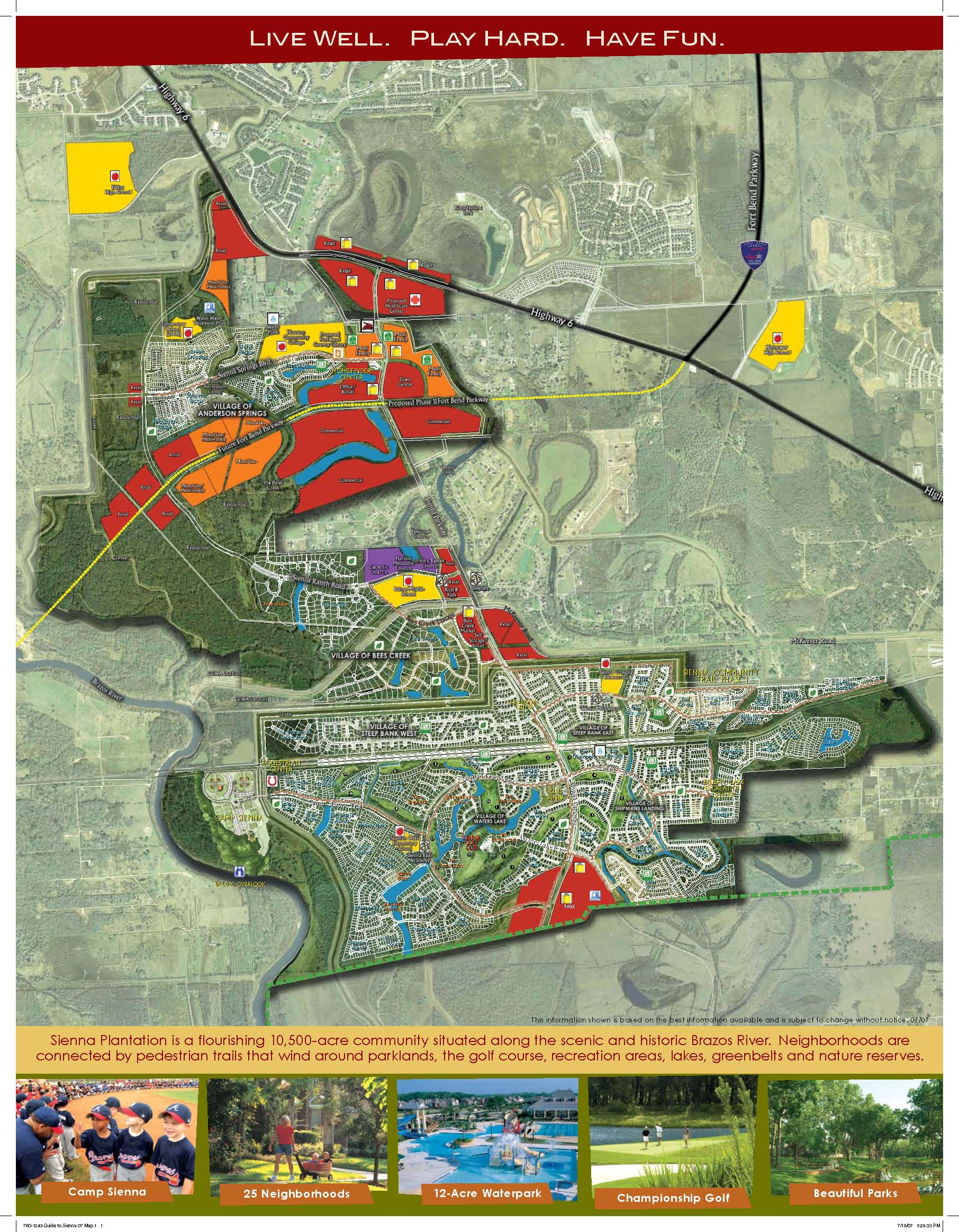 A map of Sienna Plantation Click for