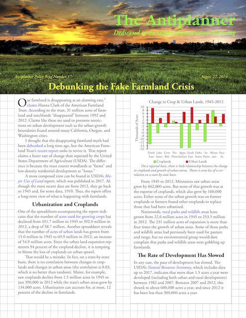 Debunking the Fake Farmland Crisis | Newgeography com