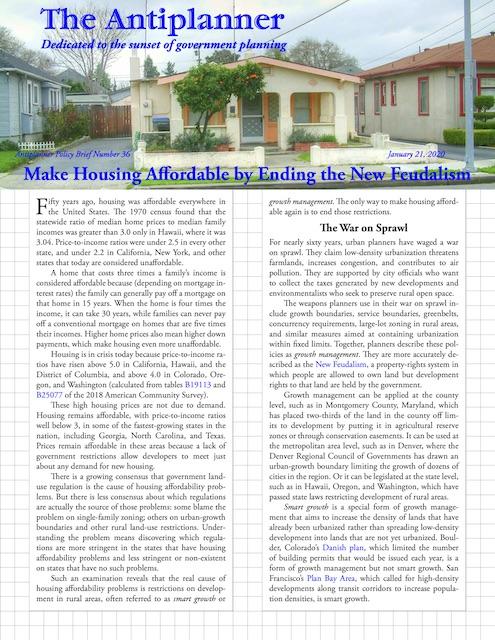 Make Housing Affordable