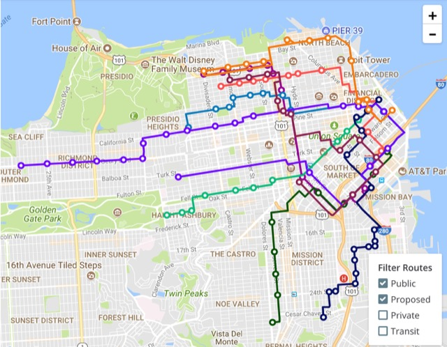 Chariots Routes In San Francisco